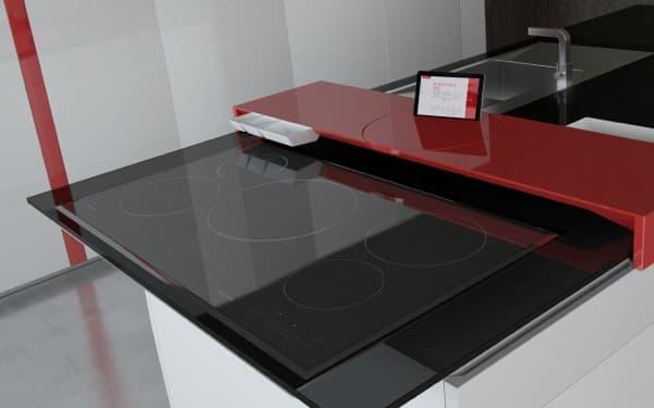 Prisma cocina minimalista con superficie inteligente t ctil for Cocina inteligente