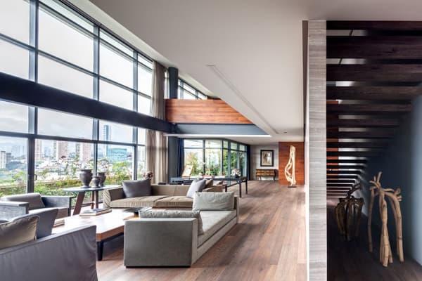 P1 Moderno Apartamento Con Sal 243 N A Doble Altura