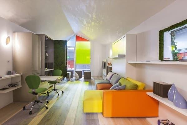 Camas abatibles para espacios reducidos for Muebles apartamento