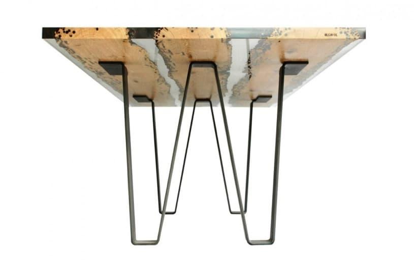 Chimenti mesa con tablero de madera y resina - Patas para mesas ...