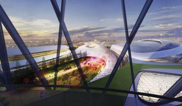 Expo2017-vista-desde interior-pabellon-Kazajistan