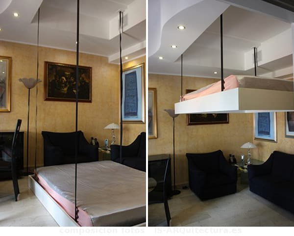 Updown para ocultar la cama en el techo - Cama con techo de tela ...