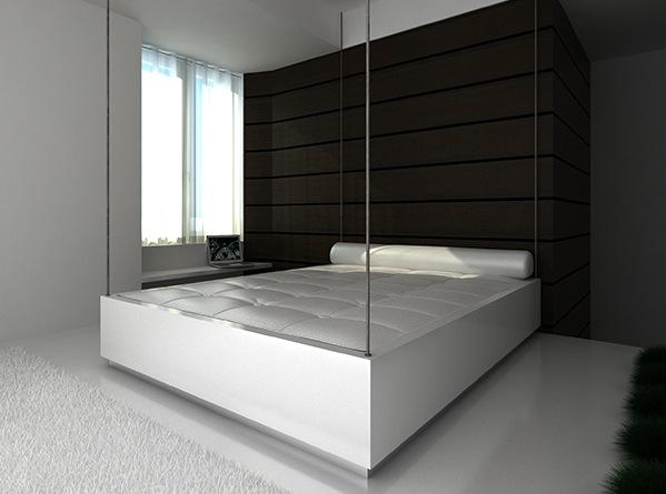La solución que además esconde una gran bañera, bajo la cama, es