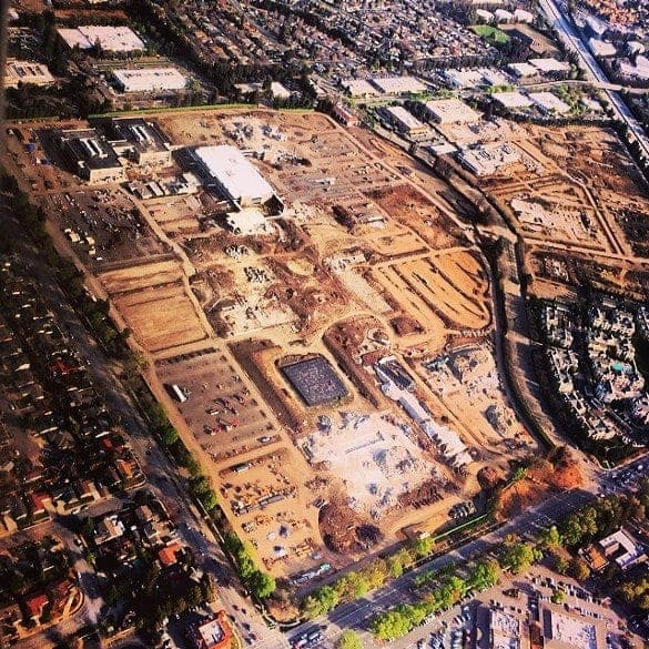 Campus 2 Apple vista-aerea-demolicion