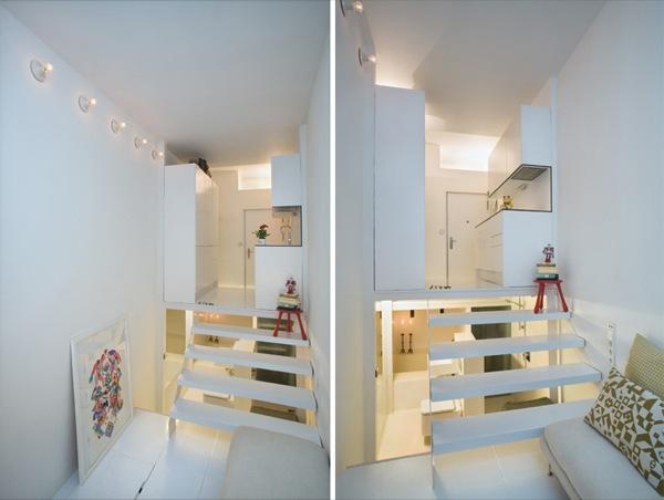 Apartamento de 20m2 resuelto en varios niveles (madrid)