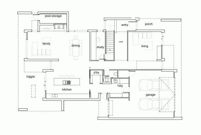 Casa brighton un proyecto de arquitectos inform - Planos casas planta baja ...
