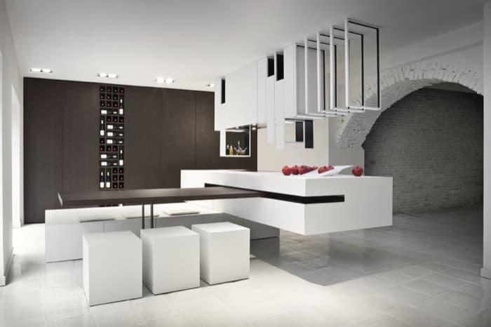 The cut isla de cocina minimalista configurable seg n for Cocinas modernas con islas centrales