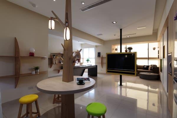 un apartamento muy funcional en taiw n. Black Bedroom Furniture Sets. Home Design Ideas