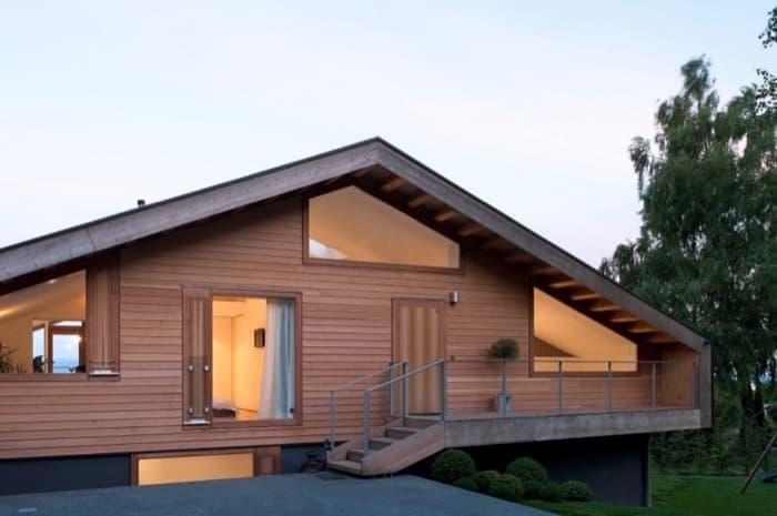 Moderno chalet en genolier de lrs architects - Fotos chalets modernos ...