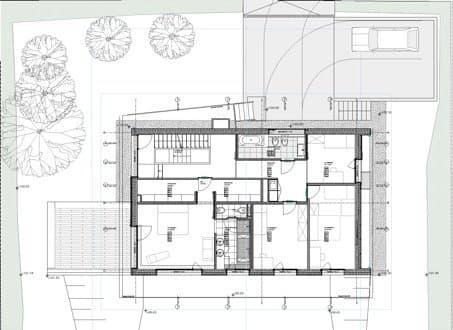 Moderno chalet en genolier de lrs architects - Plano de chalet ...