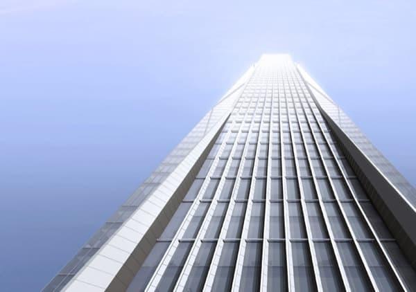 Torre-Ping-Shenzhen-fachad-vidrio-piedra