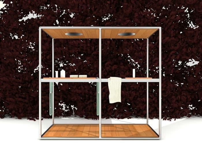 Wazebo: doble cabina de ducha, de Kos