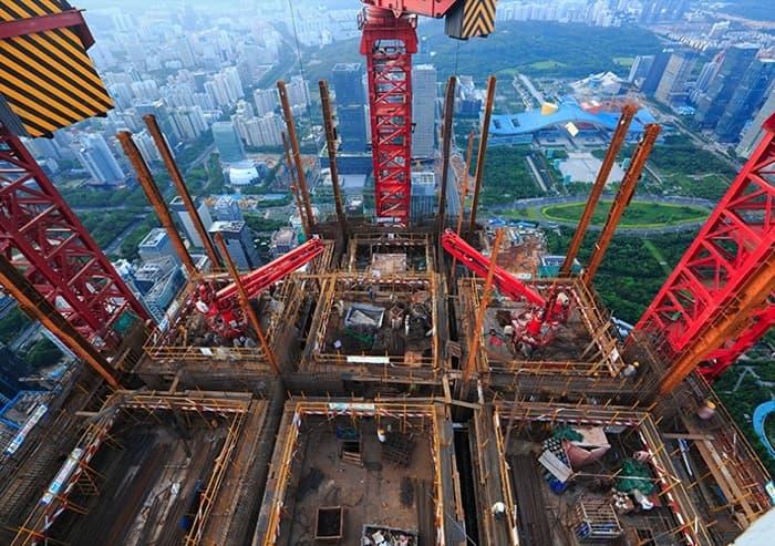 Torre PING: una planta cada 4 días, y tendrá 660m