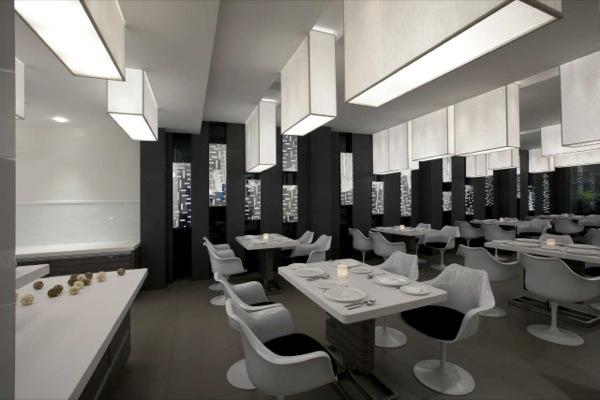 Decoraci n de interiores y fachada del restaurante mezban for Decoracion de banos de restaurantes