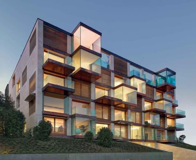 Lomocubes edificio de apartamentos de lujo en lugano for Departamentos arquitectura moderna