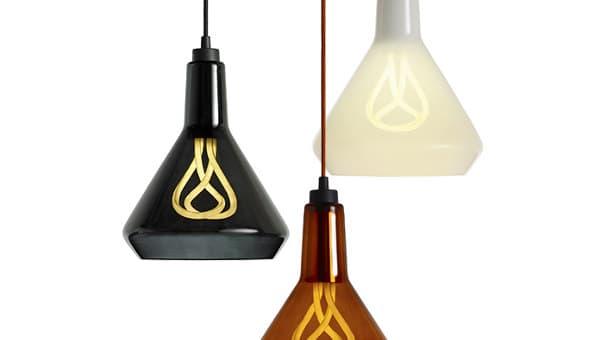 Drop Top: lámparas para la bombilla Plumen