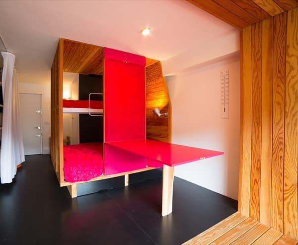 Estudio de 25m2 ordenado con 2 cajas de madera - Caja arquitectos madrid ...