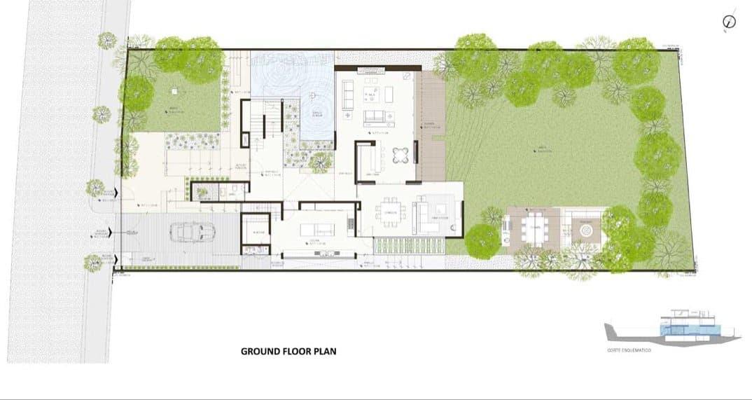 Casa ml lujoso proyecto de gantous arquitectos - Plano casa planta baja ...