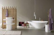 FONTE: colección para el baño, en material Corian y madera