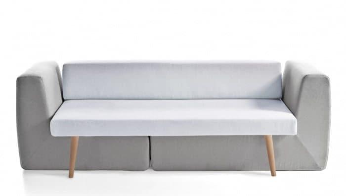 Sofista sof de 3 plazas que esconde 2 sillones for Sofa gris y blanco