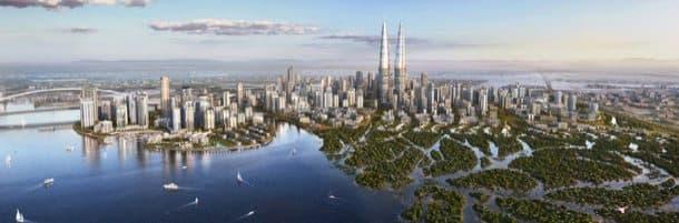 Torres-gemelas-Dubai-Creek-Harbour