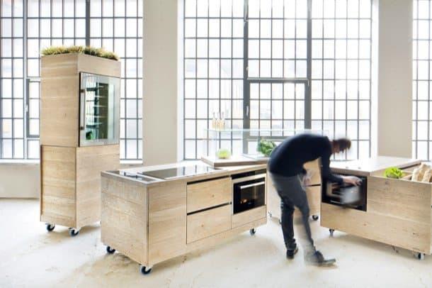 Foodlab ii muebles de cocina con ruedas for Muebles de cocina con ruedas