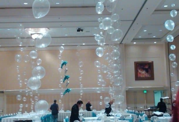 decoración con globos combinando-globos-transparentes