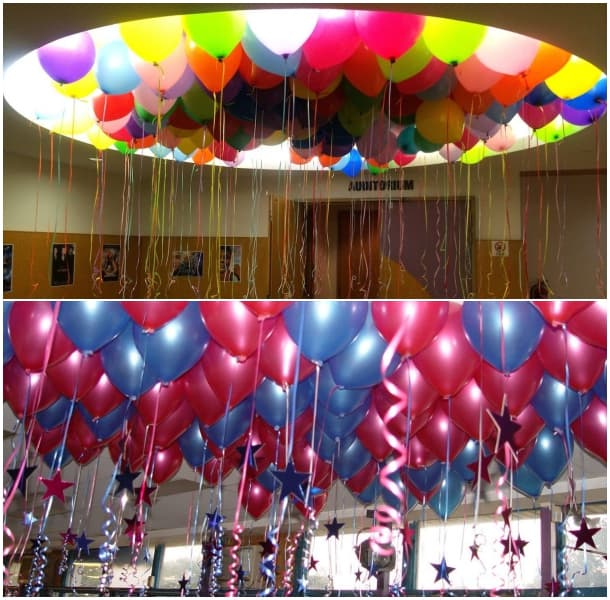 Decoraci n con globos ejemplos de globos decorados for Cuartos decorados romanticos con globos