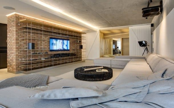 Apartamento tipo loft en kiev con paredes de ladrillo - Apartamento tipo loft ...