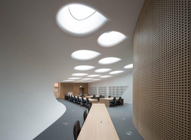 Edificio Investcorp interior-biblioteca