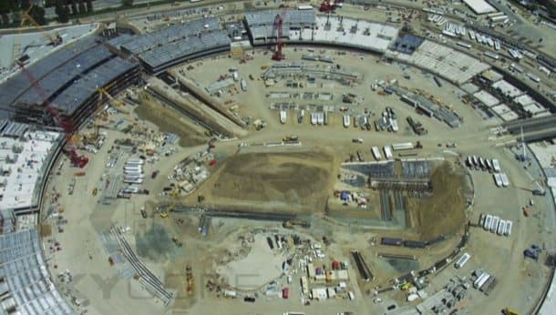 vista aérea obras campus 2 de apple