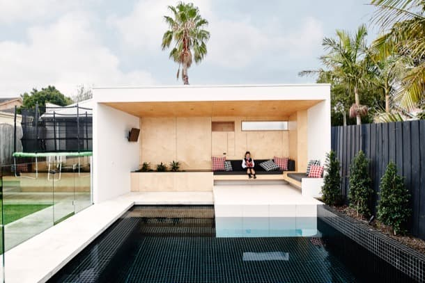 Sala de piscina casa Australia