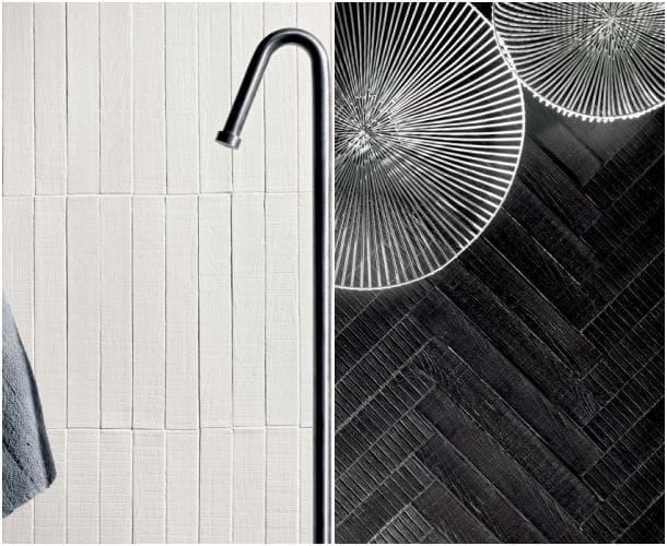 azulejos de madera RIGO blanco negro
