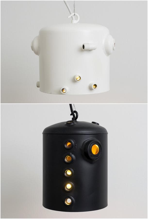 lamparas colgantes Boiler blanco negro