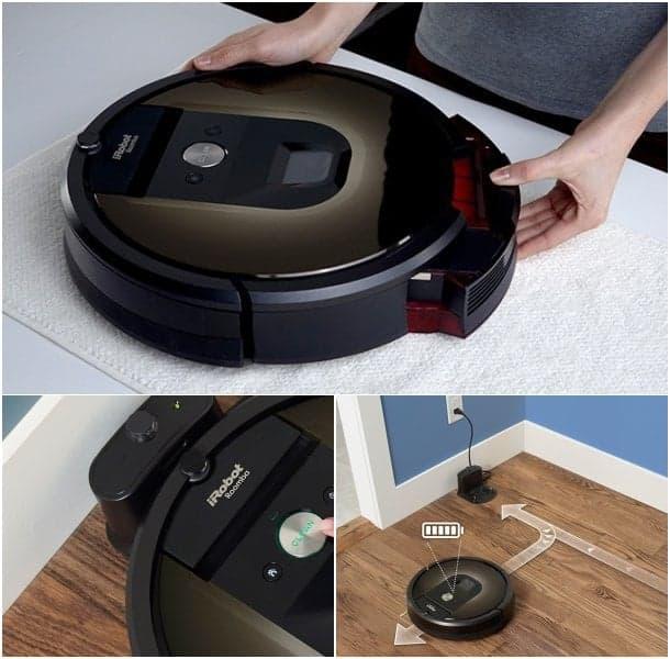 robot aspirador Roomba980 detalle