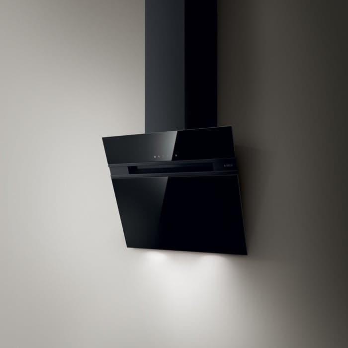 campana extractora Stripe vidrio negro