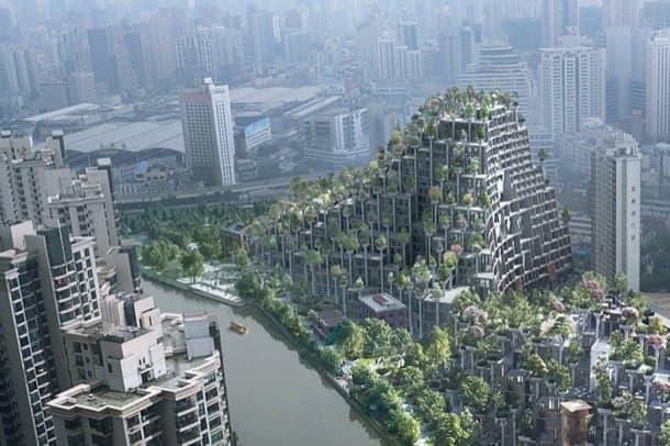 colinas artificiales Heatherwick Shanghai
