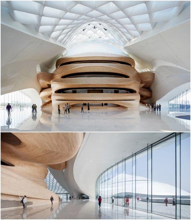 interiores edificio opera Harbin China