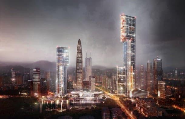 Rascacielos de oficinas para el Delta del río de las Perlas