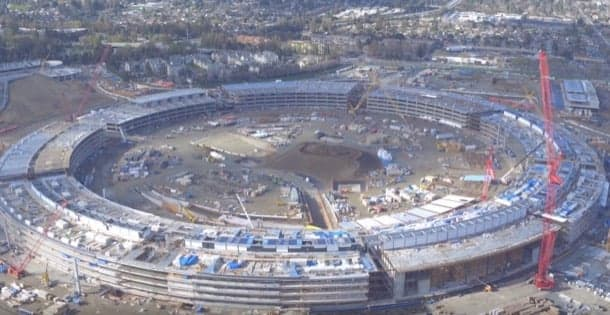 video obras Apple Campus 2