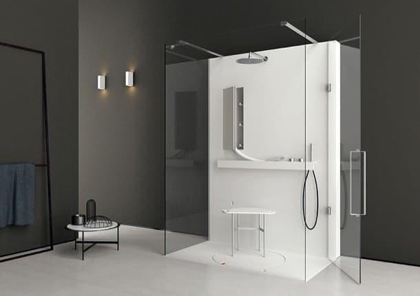 LIFE: cabina de ducha con plataforma giratoria