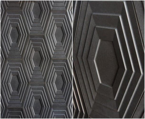 Azulejos Baño Relieve:Azulejos de cemento de la colección KAZA