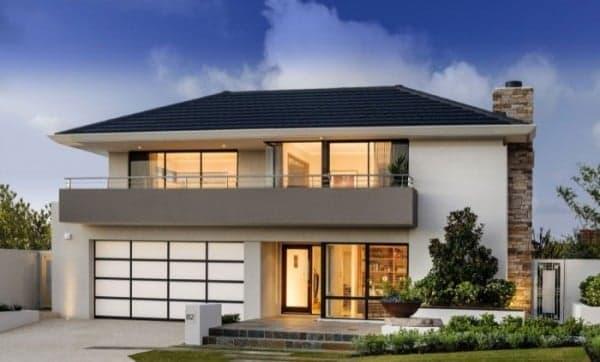 Selección de fachadas de casas aisladas