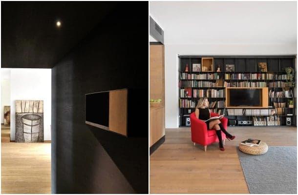 apartamento pared negra entrada