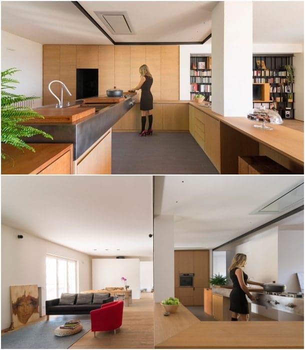 cocina abierta apartamento moderno