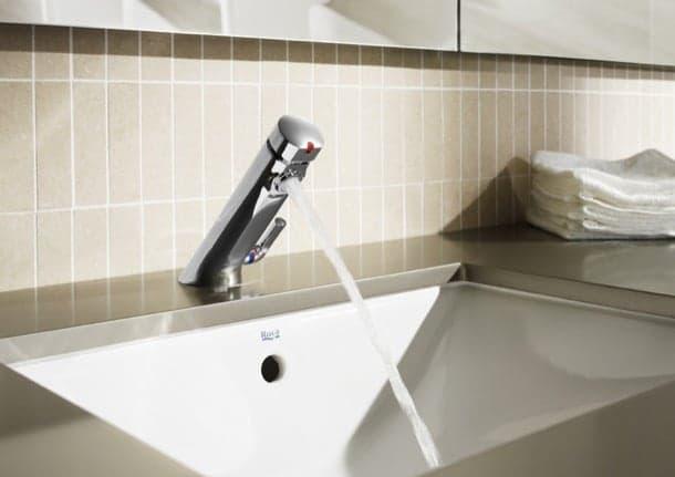 Grifo temporizador para lavabo con mezclador autom tico avant - Grifos con temporizador ...
