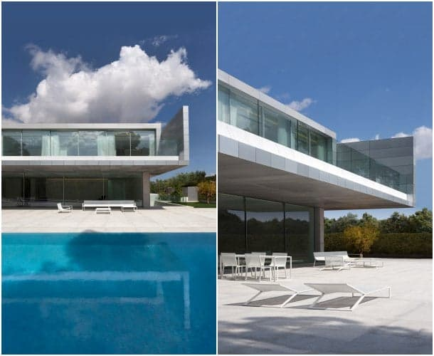 piscina y terrazas Casa de Aluminio