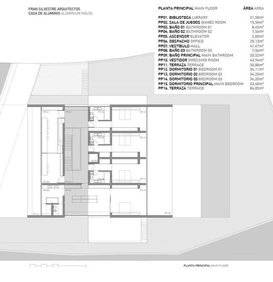 Vivienda minimalista de lujo en madrid fran silvestre for Vivienda minimalista planos