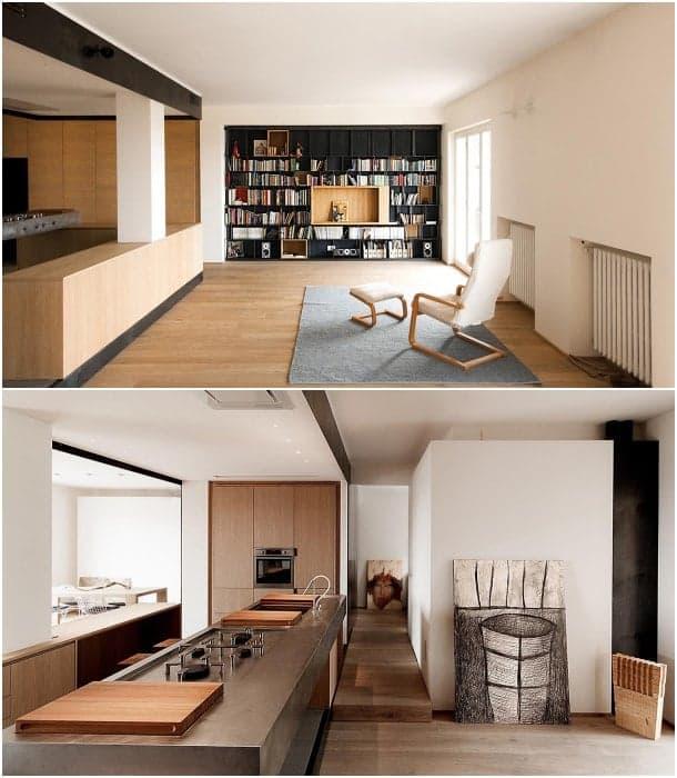sala de apartamento minimalista