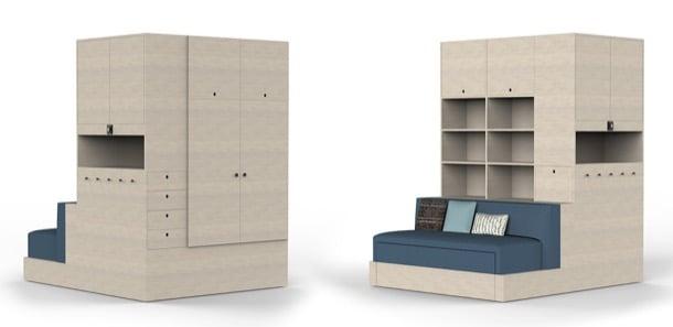ORI System: mueble robótico para pequeños espacios